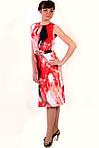 Платье трикотажное со встречными складками и поясом, фото 2