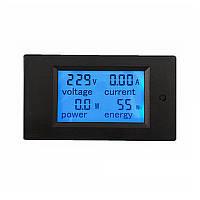 Встраиваемый  счетчик электроэнергии 220В, вольтметр амперметр, фото 1