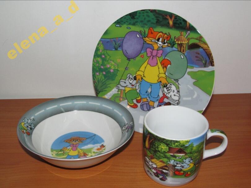 Набор детской посуды Кот Леопольд
