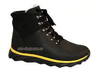 Мужские кожаные черные ботинки на шнуровке, осень/зима