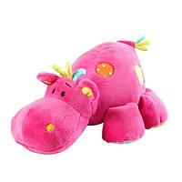 Мягкая игрушка с погремушкой Бегемот BabyOno 994