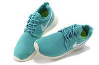Женские кроссовки Nike Roshe Run бирюзовые, фото 1