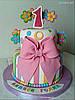 Торт на 1 годик девочке, фото 2