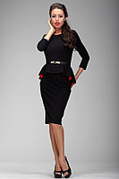 Платье женское нарядное с баской