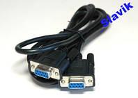 Нуль модемный кабель rs-232 db-9 com 5,0 метров.VIP