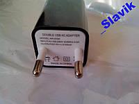 2 USB Сетевое зарядное устройство зарядка 5V 2A