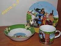 АКЦИЯ!! C186 Набор детской посуды Добрыня