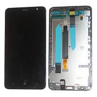 Дисплей (LCD) Nokia 1320 Lumia с сенсором черный оригинал + рамка