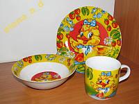 C013 Набор детской посуды Уточка