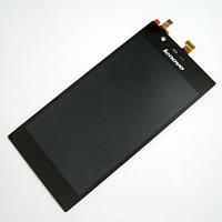 Дисплей (LCD) Lenovo K910 с сенсором черный