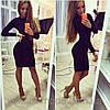 Платье женское футляр длинна 90см с длинным рукавом