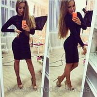 Плаття футляр довжина 90см з довгим рукавом