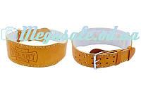 Пояс атлетический Zelart Brown с подкладкой для спины: размер M-XXL, ширина 10см (кожа)