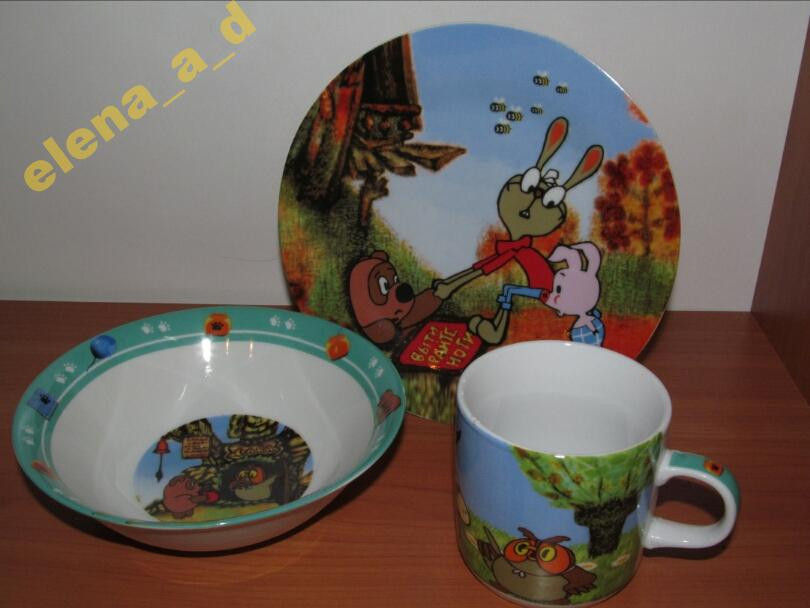 C188 Набор детской посуды Винни Пух