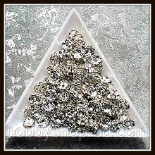 Рондель со стразами, диам. 0,6 см  (100 шт)
