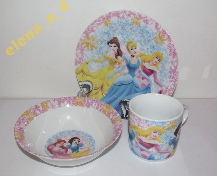 C418 Набор детской посуды Принцессы