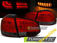 ФОНАРИ VW GOLF 6 10.08-12 RED SMOKE LED BAR