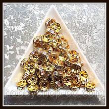 Рондель со стразами, диам. 0,8 см  (100 шт)