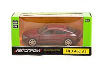 Машина металл 67306 Автопром audi a7 открываються двери в коробке 14,2*7,2*6,5см