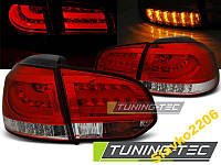 ФОНАРИ VW GOLF 6 10.08-12 RED WHITE LED BAR