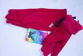 Трикотажные красные перчатки Средние, фото 2
