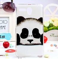 Силиконовый чехол на lenovo A616 с картинкой панда