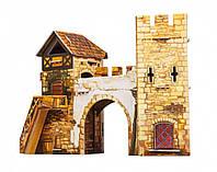 """Картонная модель """"Старые ворота""""."""