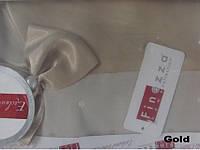 Скатерть  с гипюром   FINEZZA Home 170Х230 Pamuk золотистый