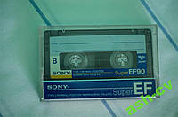Кассета чистая Sony SuperEF90 (Japan)