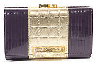 Гламурный лаковый женский кожаный кошелек высокого качества SONIA RYKIEL art.SR-5843D фиолет