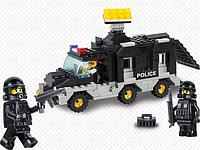 Конструктор Фургон с прожектором (Sluban Военная полиция M38-B1900), 206 деталей