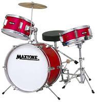 Maxtone MXC307 Red Барабанная установка акустическая мини