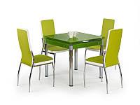 Стеклянный зеленый стол Kent от польской компании Halmar