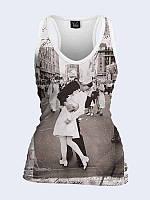 Майка-борцовка Поцелуй на Таймс Сквер