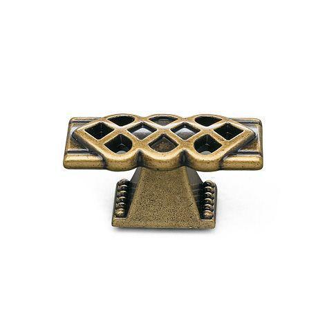 Ручка кнопка классическая URB-24-52 античная бронза, фото 1