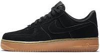 Мужские кроссовки Nike Air Force 1 ´07 Suede Black, найк, аир форс
