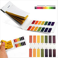 Лакмусовая индикаторная бумага pH 1-14. pH-тест универсальный (80 штук)