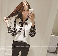 Женская блузка с бантиком