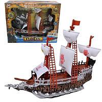 Пиратский корабль на батарейках, музыка, свет 350-2
