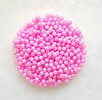 Бусины Жемчуг Розовые 6 мм Упаковка 50 гр/475 шт, фото 1