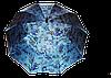 Женский зонт-трость, полуавтомат blue