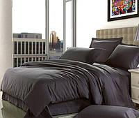Комплект постельного белья сатин однотонный Dark Grey