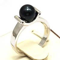 Серебряное Кольцо с Жемчугом Акоя (Япония)