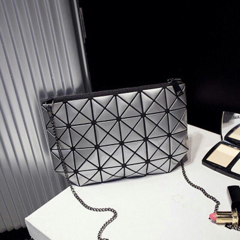 Серебряная Стильная женская сумочка