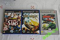 Буклеты от дисков PS2 игра SIMS, RUSH, BURNOUT (только полиграфия)