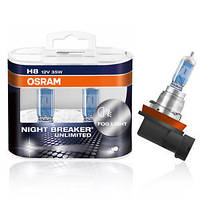 Автолампа OSRAM 64212NBU Night Breaker Unlimited H8 35W 12V PGJ19-1 10X2 HardDuopet