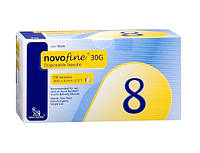 Одноразовые иглы НовоФайн (NovoFine) 30 G х 8мм для шприц-ручек Ново-Нордиск 100 шт.