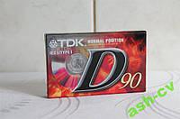 Кассета новая TDK D90