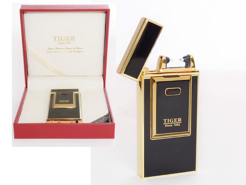 Электроимпульсная USB зажигалка Tiger №4336