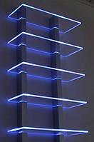 Светодиодная LED подсветка стеклянных полок